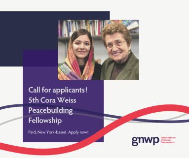 Cora Weiss Fellowship for Young Women Peacebuilders