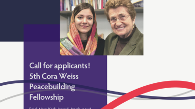 Cora Weiss Fellowship for Young Women Peacebuilders