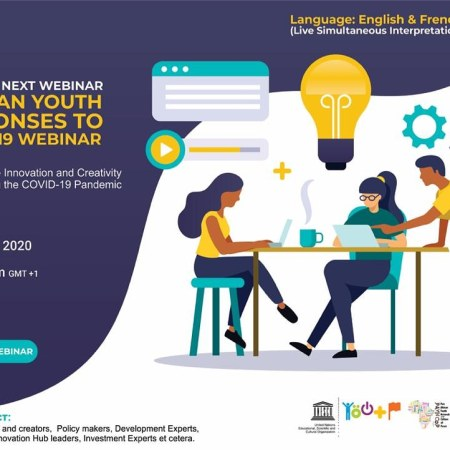 African Youth Responses To COVID-19 webinar series With UNESCO