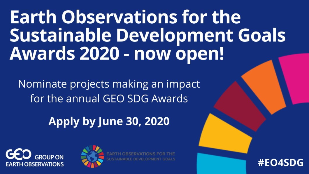 Group on Earth Observations Sustainable Development Goals (GEO SDG) Awards 2020