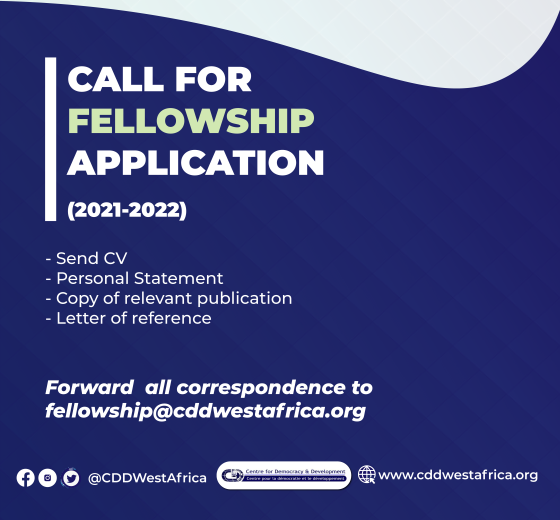 Centre for Democracy and Development Fellowship 2021-2022