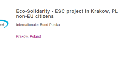 Eco-Solidarity - ESC project in Poland For EU and Non-EU Citizens