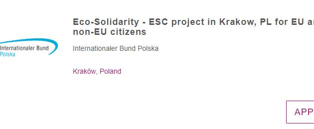 Eco-Solidarity - ESC project in Poland For EU and Non-EU Citizens
