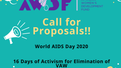 AWDF Grants For World AIDS Day and 16 Days of Activism Against GBV 2020