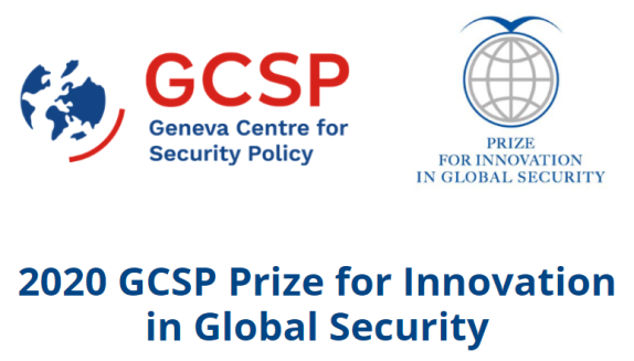 2020 Geneva Centre for Security Policy GCSP Prize for Innovation in Global Security