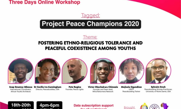 Mind Reformers Network, Peace First and Project Peace Lights Project Peace Champions 2020