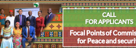 Call for Applications: African Countries Focal Points of the Commissioner for Peace and Security at the Pan African Youth Union 2020