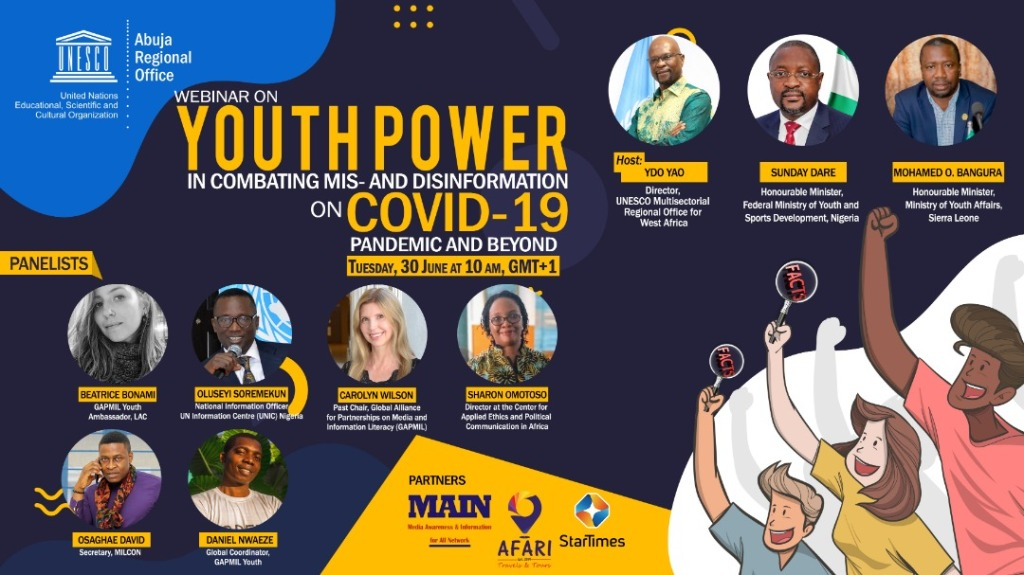 Youth Power in Combatting Mis- and Dis-Information during the COVID-19 Pandemic and beyond