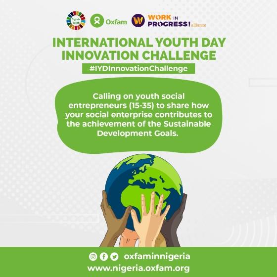 Oxfam Nigeria and NGYouthSDGs #IYDInnovationChallenge 2020