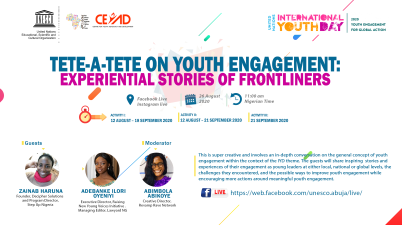 UNESCO CEYAD Tete-a-tete on Youth Engagement: Experiential Stories of Frontliners