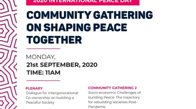 Community Gathering on Shaping Peace Together (International Peace Day) 2020